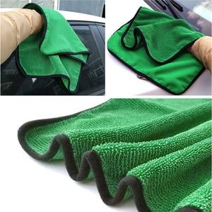 Image 3 - 1psc 40*60 Verde Ferramenta de Lavagem Do Carro Toalha de Microfibra de Limpeza Do Carro Detalhamento Pano Seco Nunca Zero Cera Cuidado de Carro toalha