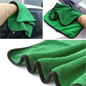 Image 3 - منشفة تنظيف السيارة من الألياف الدقيقة بلون أخضر 1psc 40*60 ، أداة تنظيف السيارة ، قماش جاف للعناية بالسيارة ، مناشف من الشمع غير قابلة للخدش