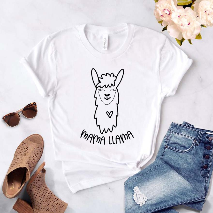 Mama Llama Women Tshirt Cotton Casual Hipster Funny T-shirt Gift Lady Yong Girl Top Tee Drop Ship ZY-309