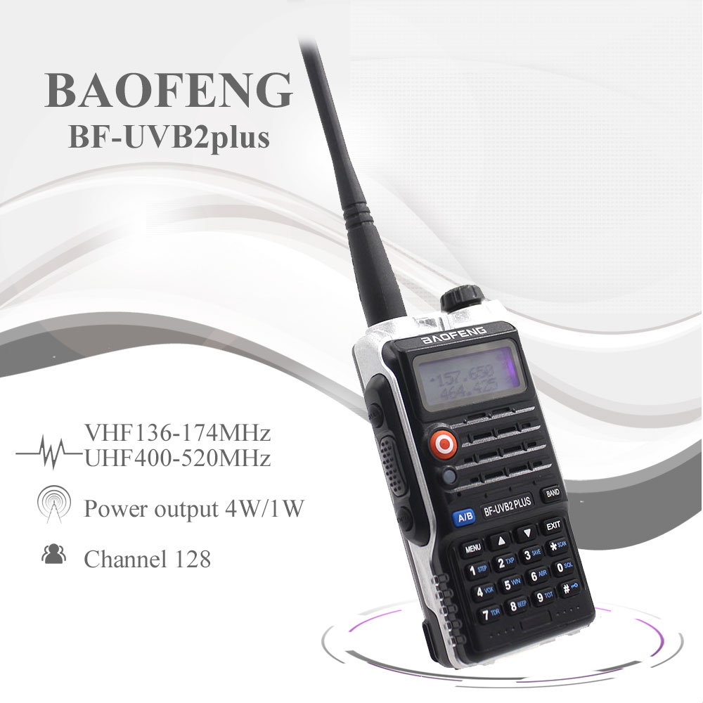 Baofeng UV-B2Plus Walkie Talkie 8W Dual Band 136-174MHz 400-520mhz 4800mah Two Way Radio Ham Radio UVB2 Plus FM Transceiver