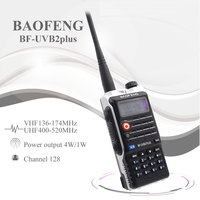 Baofeng UV B2Plus Walkie Talkie 8W Dual Band 136 174MHz 400 520mhz 4800mah Two Way Radio Ham Radio UVB2 Plus FM Transceiver