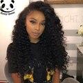 Вьющиеся Glueless фронта человеческих волос парики плотность 250% глубокая вьющиеся фронта парики черных женщин малайзии девы волос парик