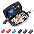 New arrival Genuine leather Men key holder organizer multifunctional women key case wallet ladies Housekeeper