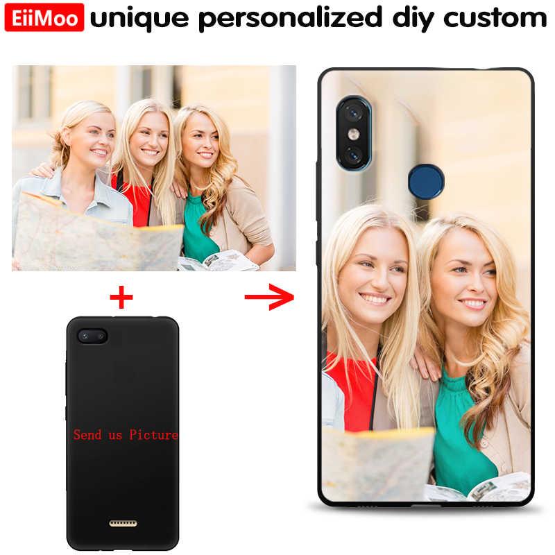 EiiMoo カスタム写真電話ケース Huawei 社 P30 P20 プロ P10 P9 P8 Lite 2017 1080p スマートプラス 2019 ケースソフトカバーカスタマイズされた名前ロゴ
