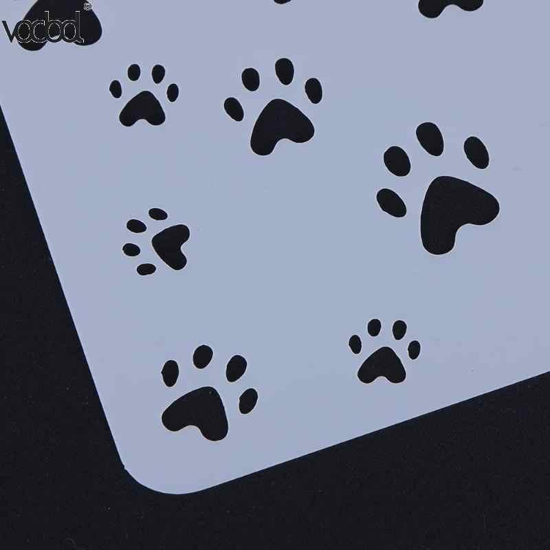 חתול עם טביעת רגל תבנית שכבות סטנסילים קיר רעיונות/אלבום תמונות הבלטות DIY נייר אמנות כרטיסים דקורטיבי חם