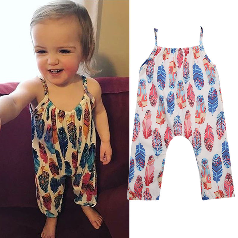 New Cute Toddler Newborn Baby Girls Floral Romper Jumpsuit Clothes Sunsuit 2018 Summer New Children Clothes