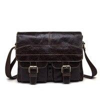 Brand Genuine Leather Business Shoulder Bag Vintage Men Bags Natural Cowhide High Quality Handbags For Men