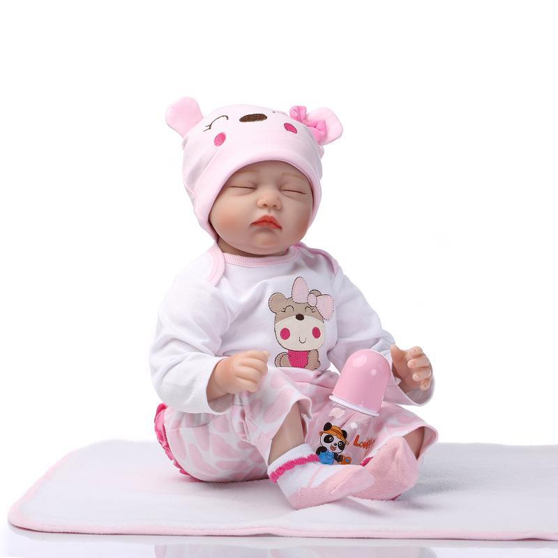 NPK 55เซนติเมตรซิลิโคนของเล่นตุ๊กตาทารกเกิดใหม่เหมือนจริงนอนทารกแรกเกิดสาวเด็กเล่นบ้านสาวของขวัญวันเกิดrebornตุ๊กตา-ใน ตุ๊กตา จาก ของเล่นและงานอดิเรก บน   2