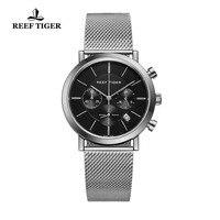 Новинка 2018 года Риф Тигр/RT ультра тонкий часы для мужчин Элитная одежда часы хронограф кварцевые часы Reloj Hombre RGA162