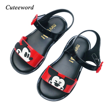 2019 New Mini Sed Jelly Shoes Girls Sandals Baby Boys Non-slip Flats Kids Beach Casual Cartoon Toddler