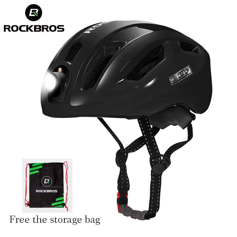 ROCKBROS Ultralight Cycling Road Bike MTB Helmet with Light Size 57-62 cm White