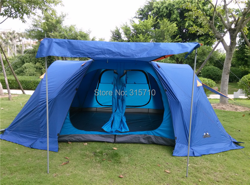 2017 upgrade version!New camping tent 6-8 people family camping tent automatic two-bedroom halls with plus snow skirt high quality outdoor 2 person camping tent double layer aluminum rod ultralight tent with snow skirt oneroad windsnow 2 plus