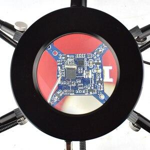 Image 4 - NEWACALOX מלחם מחזיק USB LED אורות 3X מגדלת זכוכית 6 pcs גמיש זרועות הלחמה תחנת שלישי יד ריתוך כלי