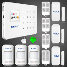 2016 новый Kerui app ios G18 Беспроводная GSM SMS ТЕКСТ Сенсорной клавиатура Меню цветной экран GSM Сигнализация Комплект с 433 мГц Беспроводной Окна двери
