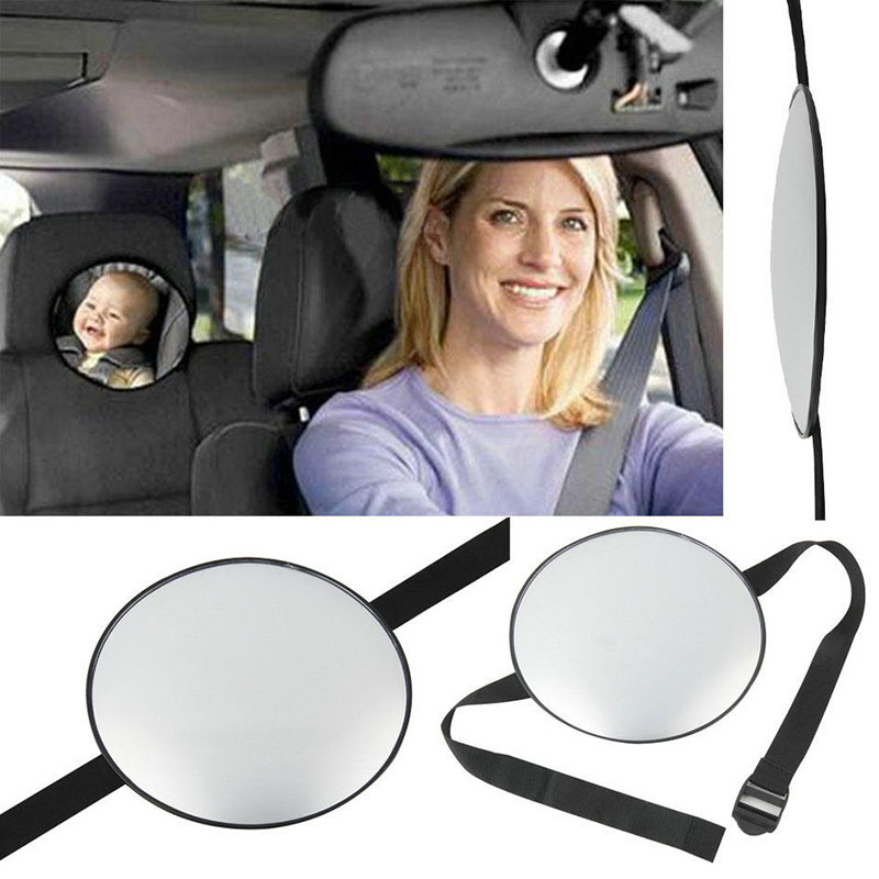 17cm black Acrylic ABS Car Rear Back Seat View Mirror Baby Child Infant Safety Mirror