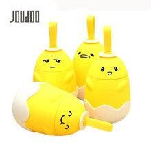 JOUDOO Cute Funny Egg Shape Water Bottle Non-slip Plastic Cover Glass 290ml Portable Children School Drinking 35