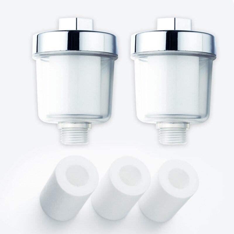 Saída purificador de chuveiro universal filtro pp algodão doméstico torneiras cozinha purificação casa acessórios do banheiro