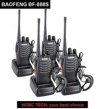 2/4 шт BAOFENG BF-888S Walkie Talkie КВ трансивер УВЧ; Голосовое управление аварийной сигнализации ручной CB Любительское радио BF 888 s любительского радио 2 способ