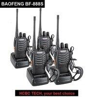 4PCS BAOFENG Walkie Talkie BF 888S Portable CB Radio UHF 400 470MHZ BAOFENG 888S Transceiver Ham Radio Communicator 888S Talkie
