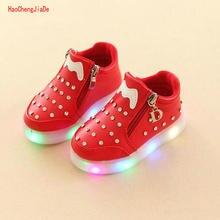 New Children's luminous shoes cartoon glitter footwear Zip LED light colorful li