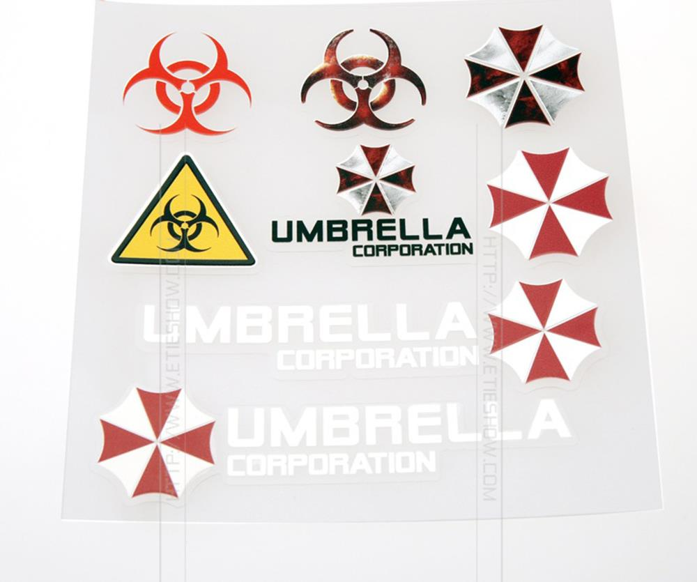 Newest umbrella corporation design car styling decal for A t design decoration co ltd