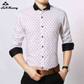 Hot Sale New Fashion 2017 Men's Shirt Long Sleeve Male Brand Shirts Print Slim Fit High Quality Designer Mens Dress 11Colors