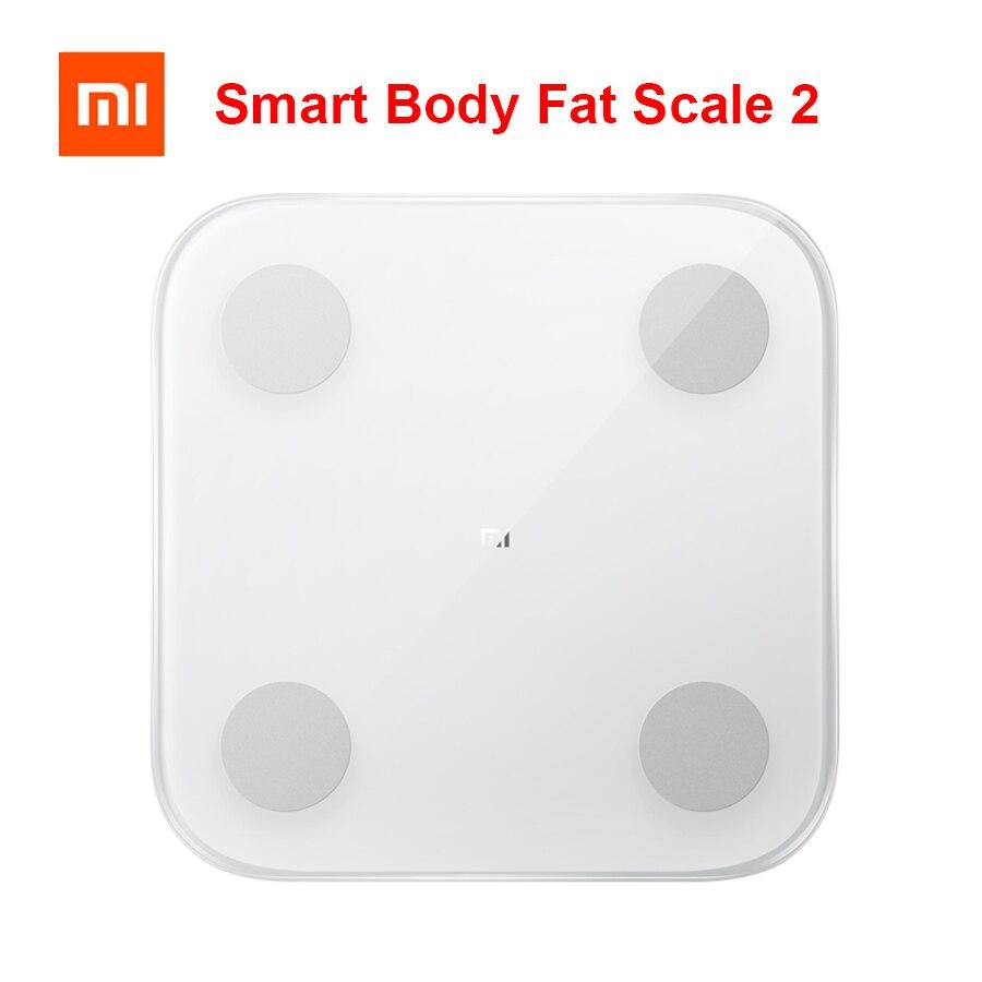 2019 nouveau Xiaomi Balance de graisse corporelle intelligente 2 Bluetooth 5.0 Balance Test Date du corps imc santé poids Balance moniteur LED affichage
