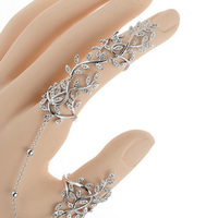 Blucome Copper Bridal Rings For Women Flower Zircon Double Rings Jewelry Rhodium Gold color Copper Wedding Anel Aneis