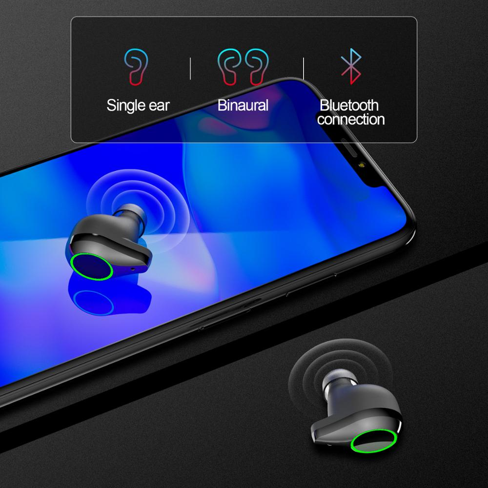 QCR 5 0 TWS Bluetooth Earphones 9D Stereo HiFi Wireless Headphone IPX7 Waterproof 7000mAh Power Bank With Microphone Touch Key in Bluetooth Earphones Headphones from Consumer Electronics