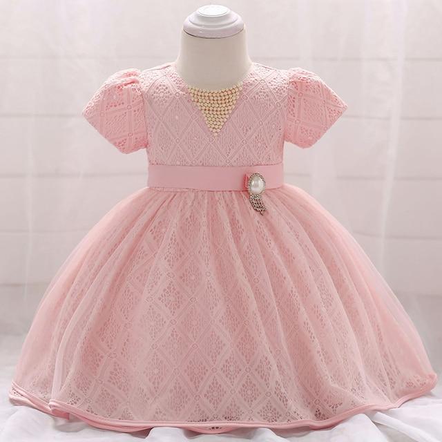ee58b992c5 Baby Girl Dress Pink Princess Girl Pageant Dress Long Children's Frocks  Wedding Flower Girl Baby Bridesmaid