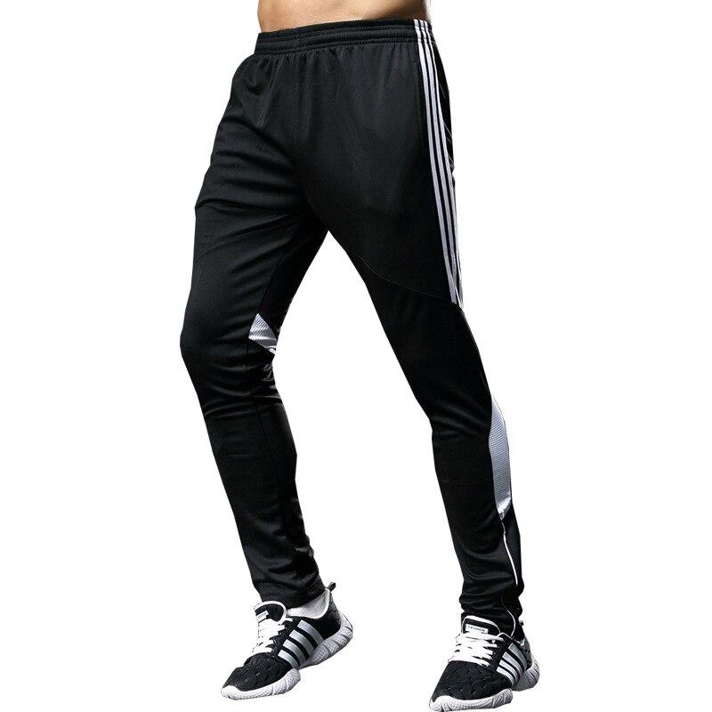 New Men Soccer Pants Long Football Gym Slim Fit Mens Sports Joggings Sweatpants Trousers Leggings Calca Masculina Pantalon Homme