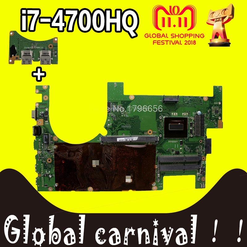 Send board +2D G750JS G750JM Laptop motherboard for ASUS G750JS G750JM G750JW G750JH G750JX G750J G750 Test original mainboard цена