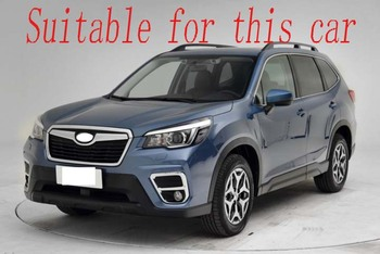 For Subaru Forester SK 2018 2019 Stainless Steel Black titanium Rear bumper protection window sill outside trunks decorative 1
