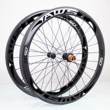Carbon wheels carbon 50mm clincher carbon wheelset, 700C Road bike carbon bicycle wheels road bike 50 mm rim
