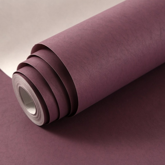 Modern Wall Papers Home Decor Solid Color Wallpaper Pink Purple Wallpapers Decorative For Bedroom Living Room