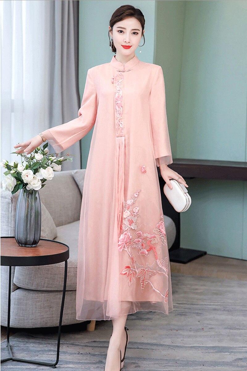 2019 verano vestido chino chica vestido de dama de honor vestidos de fiesta boda mejorado las mujeres qipao cheongsam elegante baile de graduación vestidos - 6