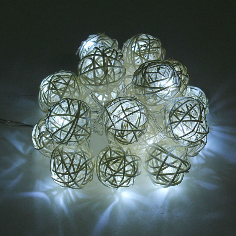 String Fairy LED Lights Christmas Outdoor Decorations Battery 2.2 M 20 led Lights Rattan Ball LED String Lights