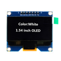 1 54 Inch White OLED Display Module 128x64 SPI Interface OLED Screen Board 3 3 5V