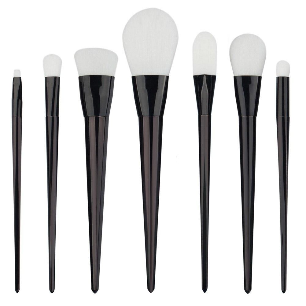 Professional 7pcs Makeup Brushes Set White Hair Eye Shadow