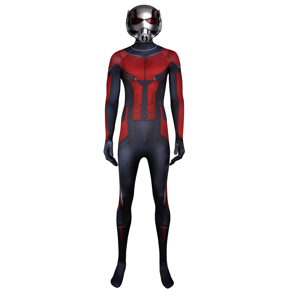 Ant Man Costume Custom Made 3D Printing Superhero Costume Halloween Bodysuit Cosplay Suit and Mask