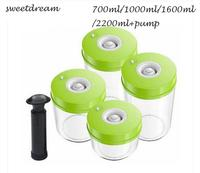 Vacuum Canister for Vacuum Sealer Plastic Food container Coffee bean  Food Storage with lid  Kitchen  Jars  Vacuum Food canister|container organizer|container food|container seal -