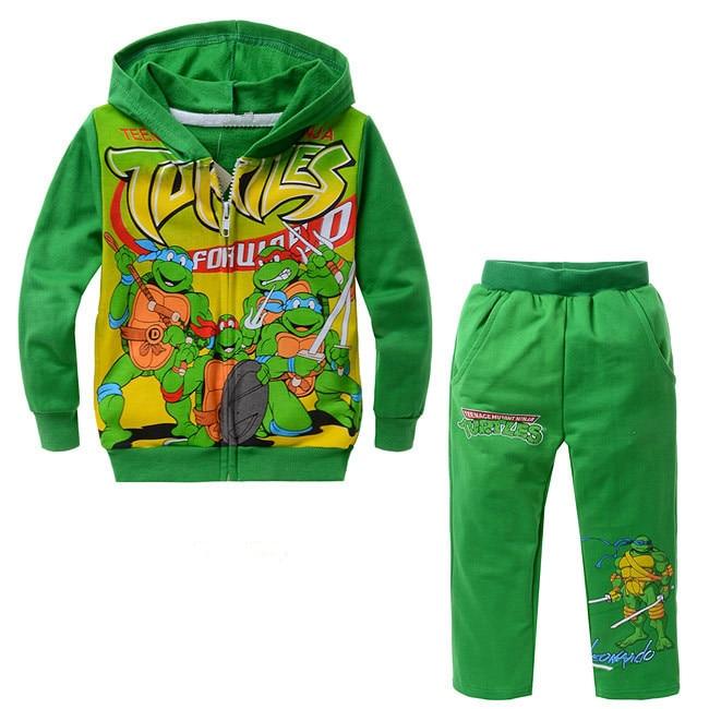 Spring Autumn Children's Clothing Set Teenage Mutant Ninja Turtles Boys Sports Suits 2-6 Years Kids Tracksuit Baby