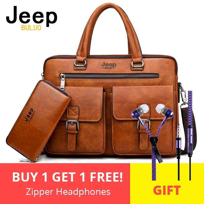 16a5c391cf54 Jeep buluo мужская деловая сумка для 13'3 дюймов Сумочка для ноутбука 2 в 1