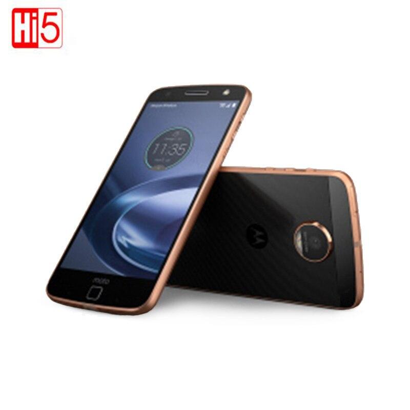 Motorola MOTO Z XT1650 05 Wi Fi Dual SIM 4 ядра 4 ГБ Оперативная память 64 ГБ Встроенная память LTE 5,5 дюймов дисплей Android 13.0MP смартфон