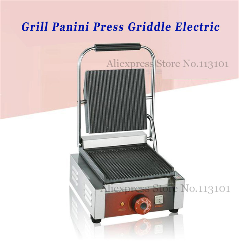 Griddle Contact Counter top Grill Panini Press Griddle Electric Upscale for Commercial Purpose