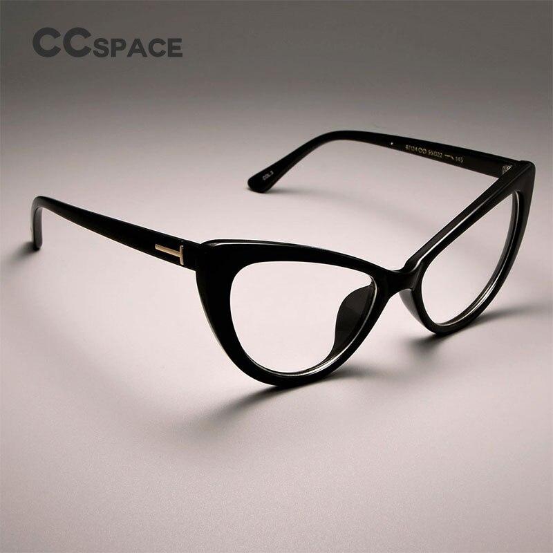 CCSPACE Damen Katze Brillen Frames Für Frauen Sexy Marke Designer ...