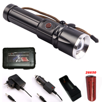 CREE XM L2 LED X900 Tactical Flashlight 9000 Lumens Torches Zoomable Flash Light Lamp Lanterna Torch