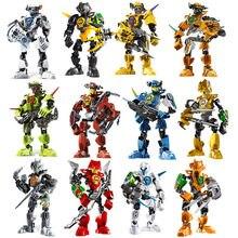 Estrela guerreiro soldados bionicle herói fábrica surge evo stringer robô figuras blocos de construção tijolos crianças brinquedos
