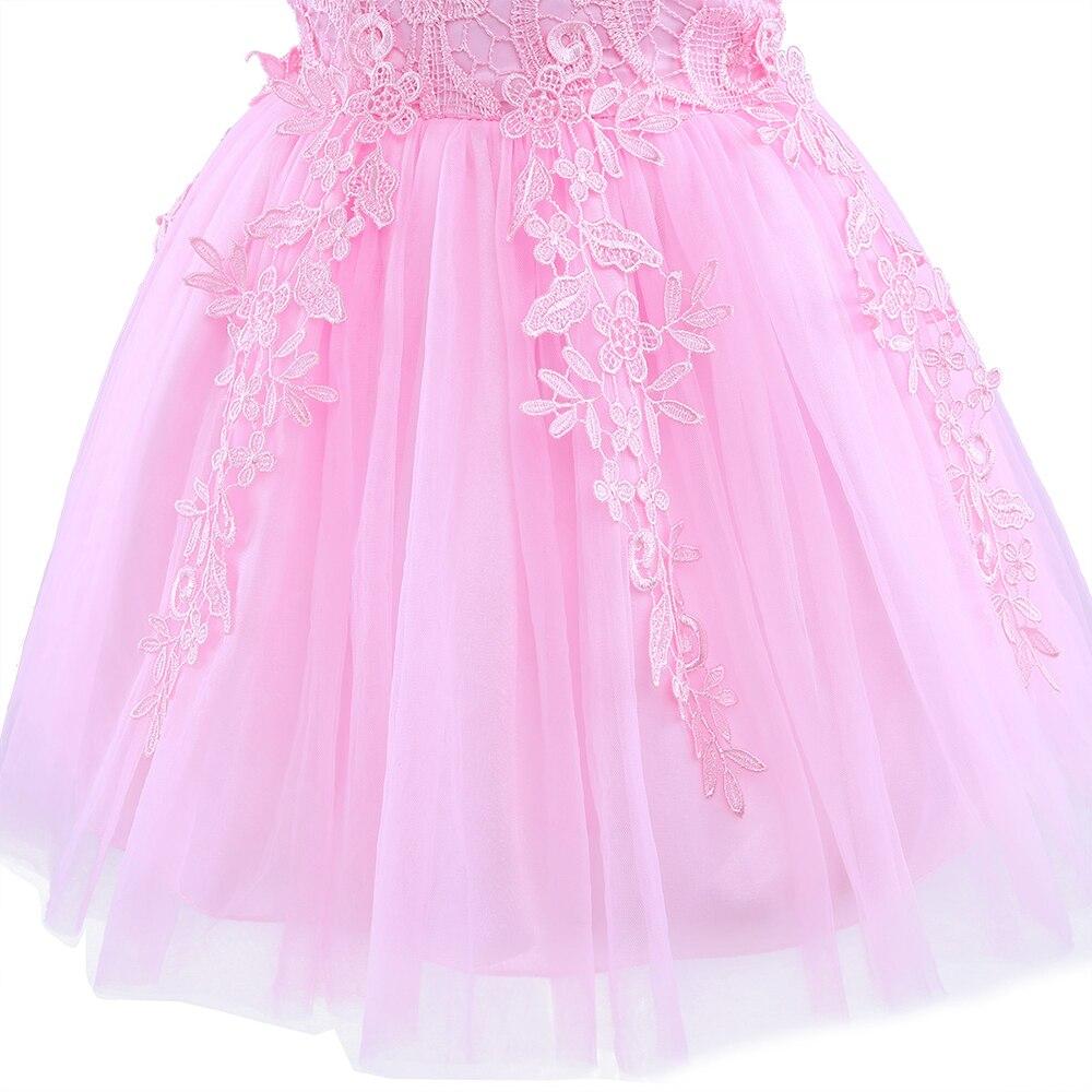 Asombroso Vestidos De Fiesta De Color Rosa Princesa Embellecimiento ...