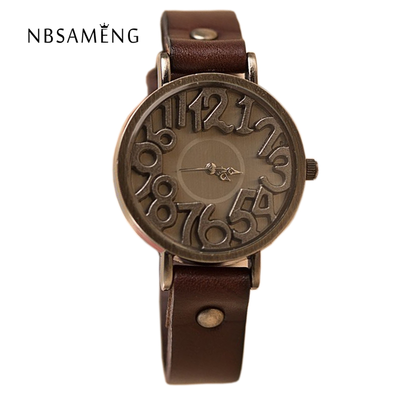 Antique Women Watches 2017 New Women's Cow Leather Wa